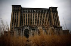 The abandoned Michigan Central Station in Detroit, Michigan, on April 5, 2011