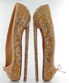 Christian Louboutin: ENB Summer Party Shoes. Hmmm...How do you wear these? I don't think I would, but these are interesting.