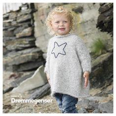 Drømmegenser - Mine mønstre - Butikken min - Design by Marte Helgetun Knitting Designs, Ravelry, Graphic Sweatshirt, Sewing, Sweatshirts, Crochet, Sweaters, Pattern, Kids
