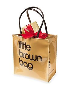 """Bloomingdales Our exclusive """"Little Brown Bag."""" Everyone's favorite Bloomies souvenir. Water-resistant plastic reproduction of our """"Little Brown Bag"""". Durable, easy to clean and great for everyday use. Great gift! Fill it with all your mom's/sister's/girlfriends favorite things for a super cute/fun gift!"""