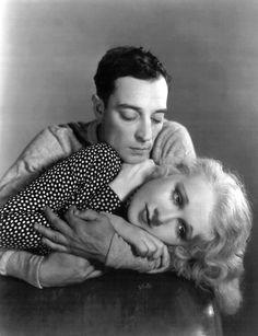 1930sglamourandstyle:  Buster Keaton and Anita Page