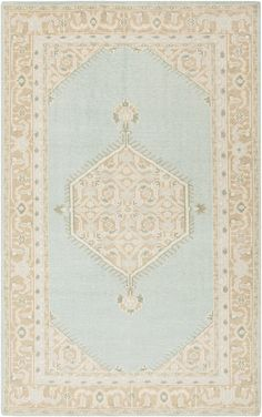 The worn, vintage look of this rug have us swooning. We love its versatility - perfect for a glamour girl's bedroom, boho living space, or a vintage eclectic den.