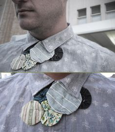 Necklace made from vintage yo-yo quilt pieces.  Makes a great tie.  Thanks AB, for the necklace.
