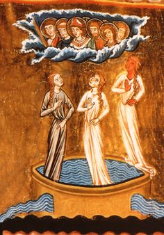 """""""The Fountain of Life,"""" one of the many illustrations in Hildegard of Bingen's illuminated works"""