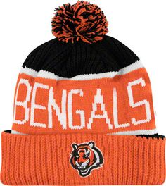 Cincinnati Bengals Calgary Pom Top Cuff Knit Hat. Great for the cold weather!