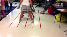 Staff Games 2 After learning the lines and spaces of the music staff, we challenged the students in floor races to place each foot on a different line or space. Preschool Music, Music Activities, Music Games, Art Music, Music Lessons For Kids, Music Lesson Plans, Music For Kids, 2nd Grade Music, Reading Music