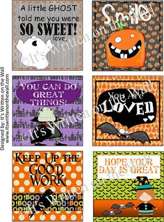 Freebie  Halloween Lunchbox Love Notes Get yours now