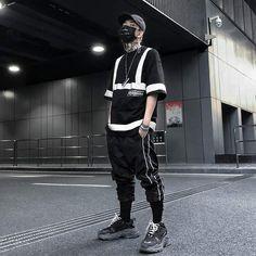 Polizia Urban Streetwear T-Shirt - Streetwear Techwear Urban Clothing - Mugen & Soul Inc nyc mens fashion one dapper street style tips marce Streetwear Summer, Streetwear Fashion, Male Streetwear, Nyc Mens Fashion, Male Fashion, Punk Fashion, One Dapper Street, Hip Hop Outfits, Urban Outfits