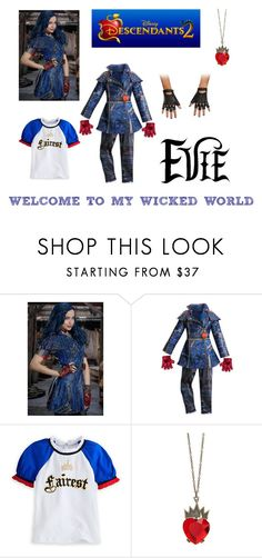 """Evie"" by thedesigningbee ❤ liked on Polyvore featuring WithChic and Disney"