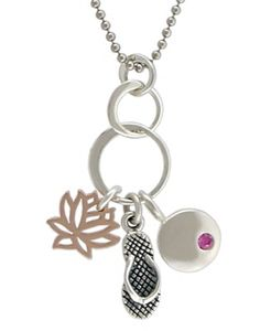 Wear Summer around your neck! All parts available at http://www.ninadesigns.com/jewelry_design_ideas/sterling_silver_flip_flop_charm.html  #jewelry