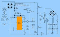 SMPS Circuit Alternative smps schematic circuit in 2019 Electronics Mini Projects, Power Electronics, Electronic Circuit Projects, Hobby Electronics, Electronics Components, Switched Mode Power Supply, Power Supply Circuit, Electronic Schematics, Power Generator