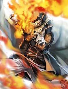 Photo of *Sabo Wields Flames* for fans of One Piece. dedicated to all One Piece fans