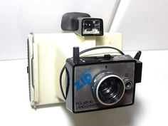 Polaroid Land Electric Zip Camera white  - Vintage camera - instant camera - colorpack - polaroid 80