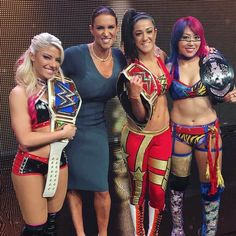 So proud to stand alongside @itsmebayley, @alexa_bliss_wwe_ & @wwe_asuka as they announced the first ever @WWE Women's Tournament coming this Summer! Can't wait to see the 32 women from 17 different countries compete on #WWENetwork. #WomensEvolution #WrestleMania