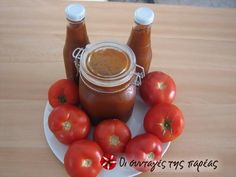 Κέτσαπ σπιτική #sintagespareas #ketchup Sauces, Vegetables, Food, Dips, Vegetable Recipes, Eten, Veggie Food, Meals, Veggies