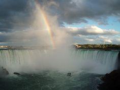 Niagara Falls Rainbow - Niagara Falls, Ontario  My Niagara Falls! Have always loved this place!