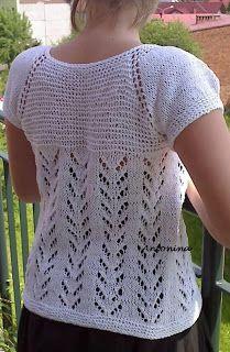U Antoniny: Metoda robienia swetra od góry
