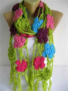 NEW-Crochet shawl scarfwinter Neck Warmerwomen by MebaDesign