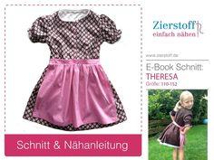 """Dirndl """"THERESA"""", Gr. 110-152, E-Book & Schnitt von Zierstoff - einfach nähen! auf DaWanda.com"""