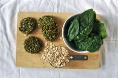 Grimgrains | Spinach oatmeal cookies