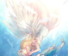 kiss, anime, and angel image Angel Images, Image Sharing, Find Image, We Heart It, Kiss, Anime, Couples, Cartoon Movies, Anime Music