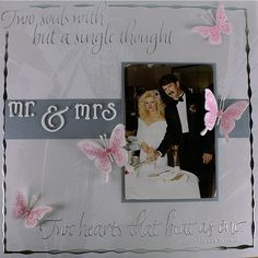 Diy scrapbooking : DIY Wedding Scrapbook Layout