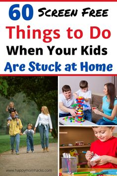 Fun & Free Things to Do with Kids at home. Indoor and Outdoor kids activities to keep them busy and happy. Plus fun family activities. Everything you need during quarantine and summer months. Indoor Games For Kids, Free Activities For Kids, Outdoor Activities For Kids, Family Activities, Diy Crafts For Kids Easy, Kids Diy, Kid Crafts, Chores For Kids, Building For Kids