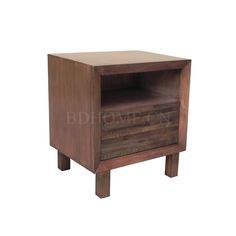 床头柜 栗子实木框架 W30-107179 W508*D406*H559 mm