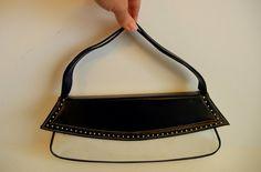1960s purse / The Vegan Vixen Vintage 60's Blue & White Bag. $26.00, via Etsy.