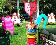 Alice in Wonderland outdoor party!