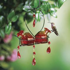 Humming bird feeders ; I love this style!
