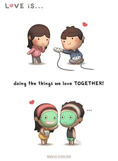 Love is, cute love, funny love, hj story, love Hj Story, Love Quotes Funny, Funny Love, Quotes Quotes, Cute Love Stories, Love Story, Love Facts, Cute Love Cartoons, Cute Comics