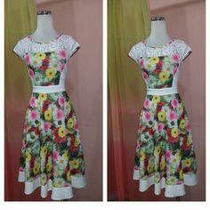 Narcyfashion vestido juvenil floral..!