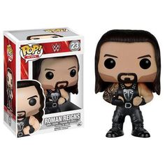 He can. He will. Believe that. This WWE Roman Reigns Pop! Vinyl Figure features the WWE Superstar as an adorable stylized vinyl figure! Standing about 3 3/4 inches tall, this figure is packaged in a window display box. #funko #popvinyl #actionfigure #collectible #WWE #RomanReigns