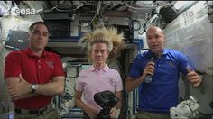 Italian astronaut Luca Parmitano of the European Space Agency (right) discusses what it felt like as water filled up his spacesuit during a harrowing spacewalk experience on July 16, 2013 in this still from an ESA video.