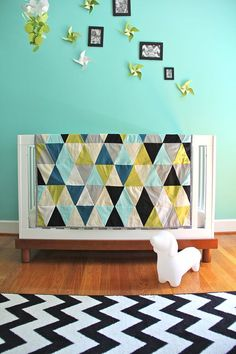 custom triangle quilt for carolyn by iviebaby on Etsy, $220.00
