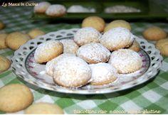 Biscottini riso e cocco senza glutine