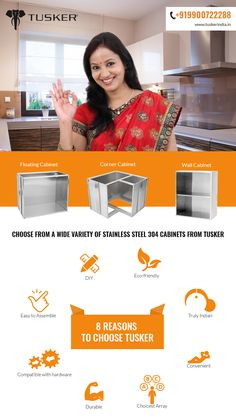 8 reasons to choose Tusker #kitchen, #kitchencabinets, #stainlesssteelkitchencabinet, #modularkitchencabinet, #modernkitchencabinet, #kitchenremodel #kitchendecor #homedesign #cabinetmaking, #cabinets, #cabinetry.