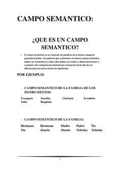 Campo lexico y semantico