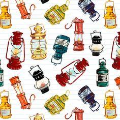 nautical lanterns fabric by oleynikka on Spoonflower - custom fabric