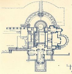 Frank Lloyd Wright S Plan For His House And Studio In 1889