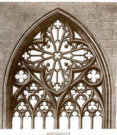 Detail of a church window, Bebenhausen