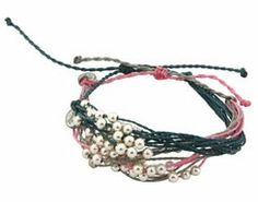 Set of 2 Adjustable Waterproof Surfer Bracelets With Beads - $24.00 from: Cultural Elements http://www.fairtradehearts.com/bracelets.html