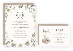 Succulent Wedding Invitation Suite by KelliMurrayArt on Etsy