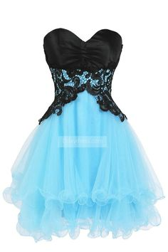 Mini A-Line Organza Sweetheart Appliques Lace-Up Cocktail Homecoming Dress ItemHB0014 #Mini #ALine #Organza #Sweetheart #Appliques #LaceUp #Cocktaildress #Homecomingdress