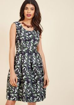 Bamboo Debut Fit and Flare Dress in XXS - Sleeveless A-line Knee Length