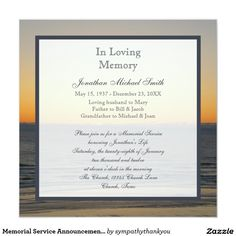 7 best joanna memorial invitation images on pinterest