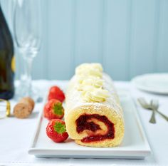 Gluten Free Strawberry Swiss Roll With Prosecco Buttercream...   I Wasn't Expecting That...