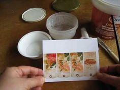 Декупаж - ФОТОбумага - распечатка на струйном принтере с водными чернилами - ТЕСТ 2 - YouTube