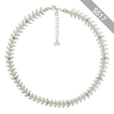 Wilhemina Garcia Silver Fish Bone Necklace